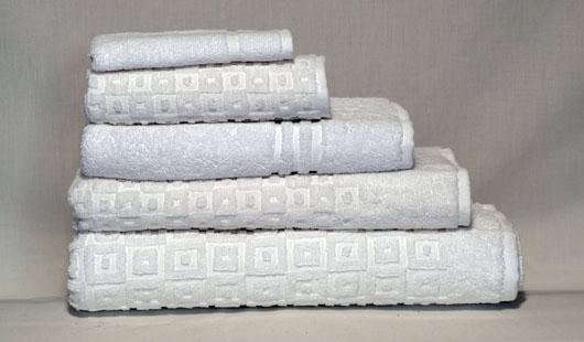 Retro towels white