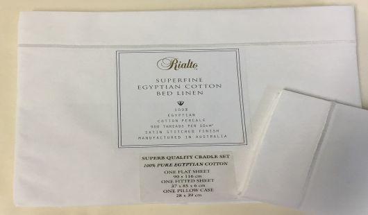 Cradle sheet set white