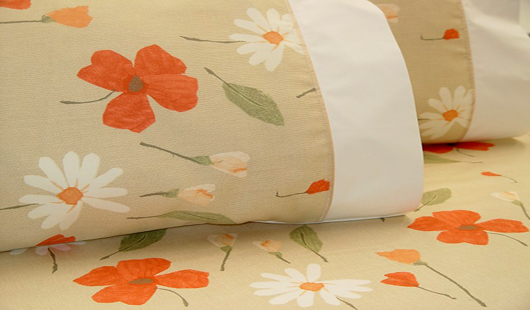 Spring quilt cover set taupe