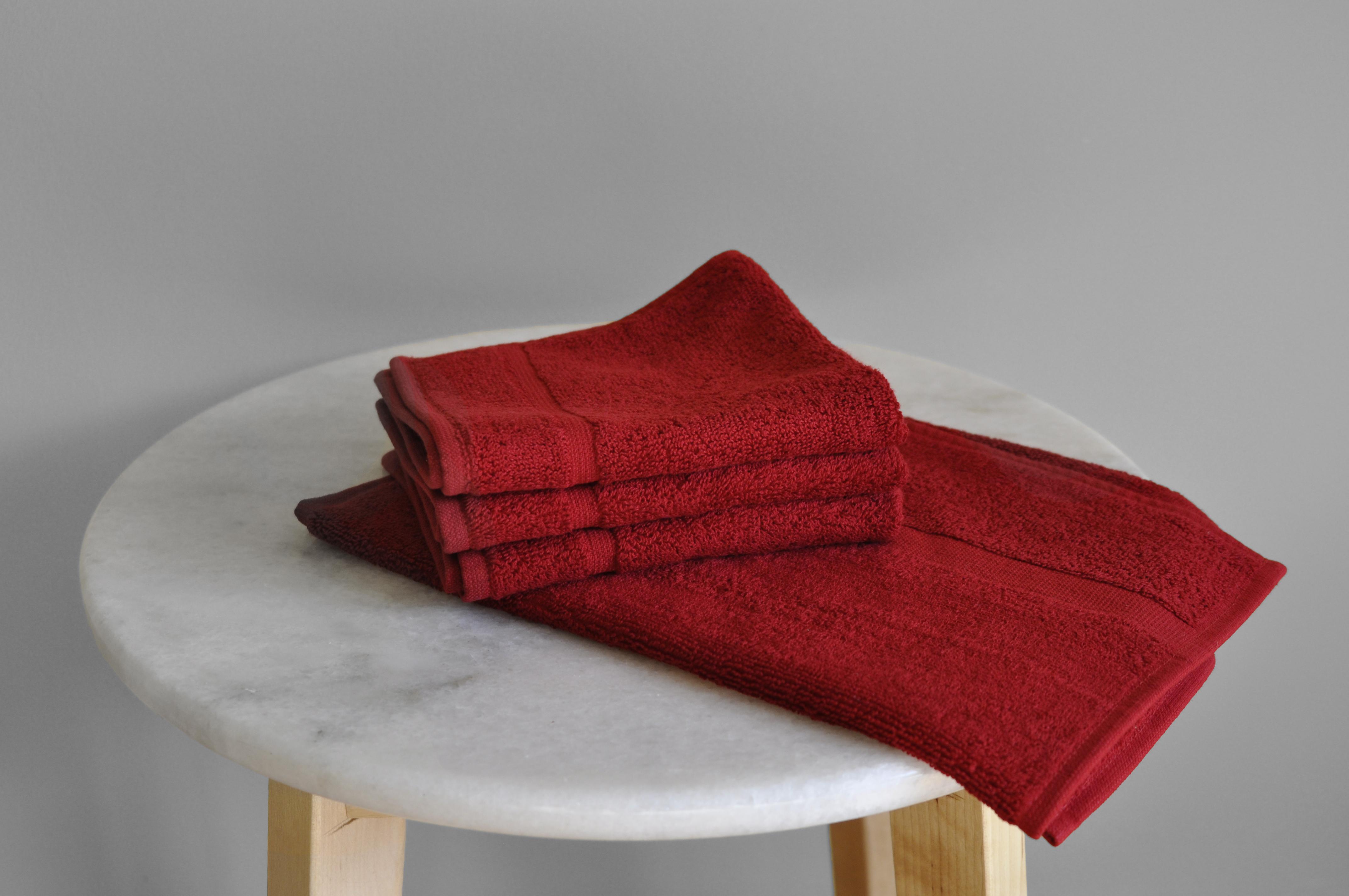 Fiery Red Towels