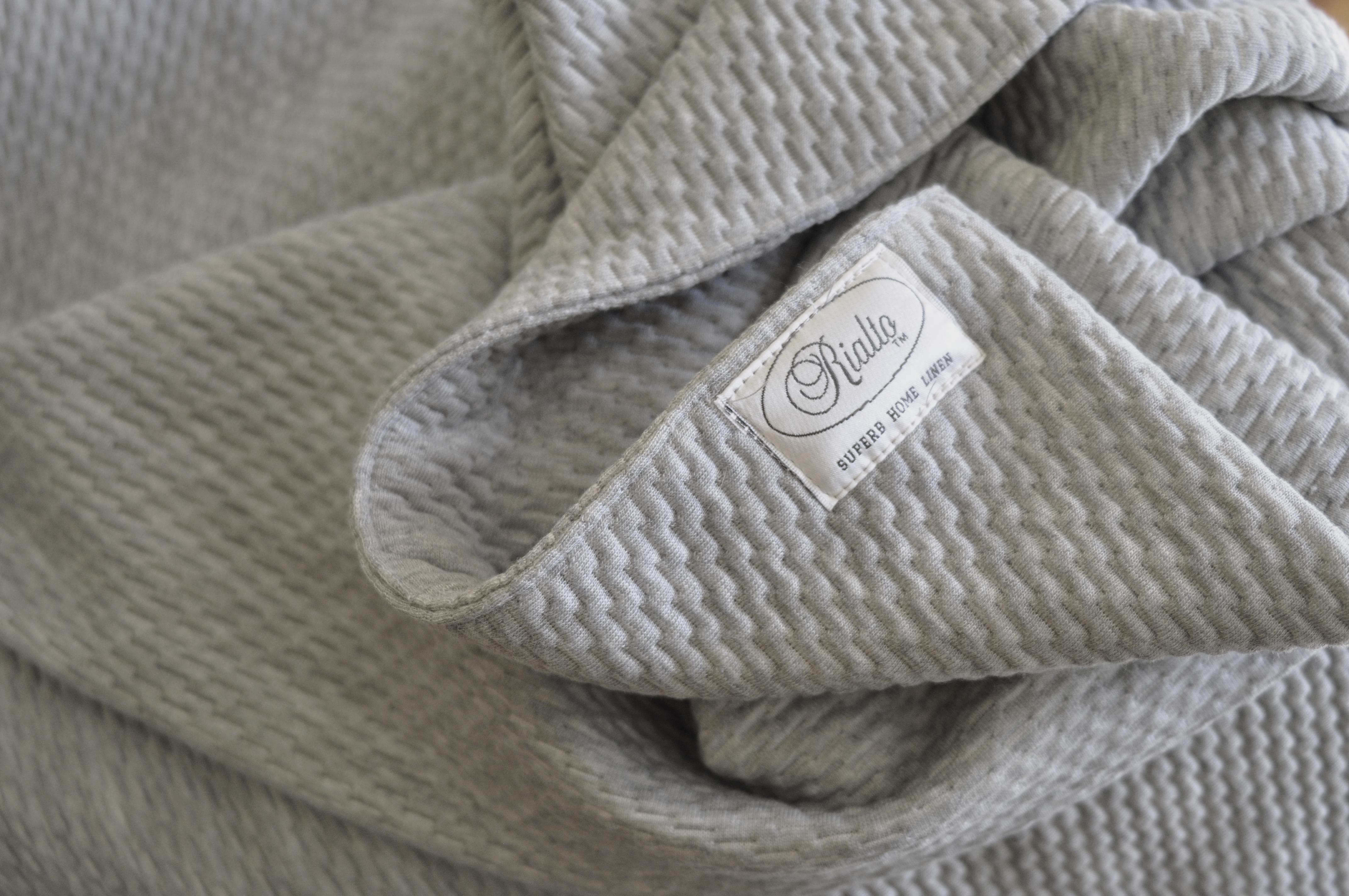Textured grey Blanket